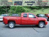 2012 Victory Red Chevrolet Silverado 1500 LT Extended Cab 4x4 #65448563