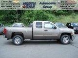 2012 Mocha Steel Metallic Chevrolet Silverado 1500 LS Extended Cab 4x4 #65448561