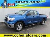 2008 Blue Streak Metallic Toyota Tundra Double Cab 4x4 #65481745