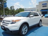 2013 White Platinum Tri-Coat Ford Explorer Limited #65480975