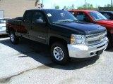 2012 Black Chevrolet Silverado 1500 LS Extended Cab 4x4 #65481445