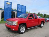 2007 Victory Red Chevrolet Silverado 1500 LTZ Extended Cab 4x4 #65480957