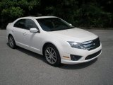 2010 White Platinum Tri-coat Metallic Ford Fusion SEL V6 #65481644
