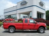 2012 Vermillion Red Ford F250 Super Duty XLT SuperCab 4x4 #65480818