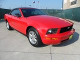 2007 Torch Red Ford Mustang V6 Deluxe Convertible #65481157