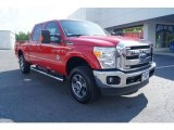 2012 Vermillion Red Ford F250 Super Duty Lariat Crew Cab 4x4 #65481063