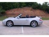 2008 Arctic Silver Metallic Porsche 911 Carrera 4S Cabriolet #65554188