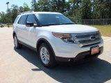 2013 White Platinum Tri-Coat Ford Explorer XLT #65554173