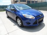 2012 Sonic Blue Metallic Ford Focus S Sedan #65553612