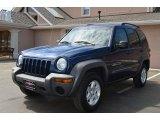 2002 Patriot Blue Pearlcoat Jeep Liberty Sport 4x4 #65553580