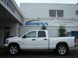 2008 Bright White Dodge Ram 1500 Big Horn Edition Quad Cab 4x4 #6529997