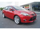 2012 Red Candy Metallic Ford Focus Titanium Sedan #65553555