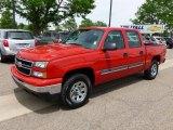 2007 Victory Red Chevrolet Silverado 1500 Classic LS Crew Cab 4x4 #65553499