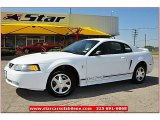 2000 Crystal White Ford Mustang V6 Coupe #65553746