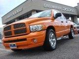 2004 Custom Orange Dodge Ram 1500 HEMI GTX Regular Cab #65553472