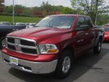 2012 Deep Cherry Red Crystal Pearl Dodge Ram 1500 SLT Quad Cab 4x4 #65554024