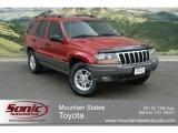 2002 Inferno Red Tinted Pearlcoat Jeep Grand Cherokee Laredo 4x4 #65553385