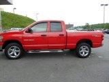 2007 Flame Red Dodge Ram 1500 SLT Quad Cab 4x4 #65553945