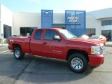 2011 Victory Red Chevrolet Silverado 1500 LS Extended Cab 4x4 #65612020