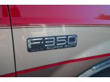 1999 Ford F350 Super Duty XLT Crew Cab Dually Marks and Logos