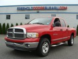 2002 Flame Red Dodge Ram 1500 SLT Quad Cab 4x4 #65612691