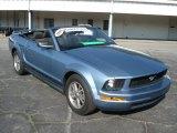 Windveil Blue Metallic Ford Mustang in 2005
