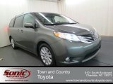 2012 Cypress Green Pearl Toyota Sienna Limited #65612268