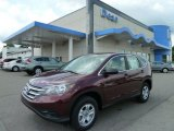 2012 Basque Red Pearl II Honda CR-V LX 4WD #65612506