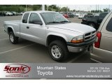 2003 Bright Silver Metallic Dodge Dakota Sport Club Cab 4x4 #65611717