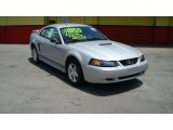 2002 Satin Silver Metallic Ford Mustang V6 Coupe #65612153