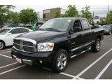 2008 Brilliant Black Crystal Pearl Dodge Ram 1500 Laramie Quad Cab 4x4 #65612119
