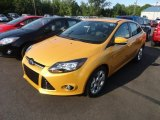 2012 Yellow Blaze Tricoat Metallic Ford Focus Titanium Sedan #65612403