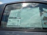 2012 Toyota Tundra Limited CrewMax Window Sticker