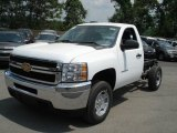 2012 Chevrolet Silverado 2500HD Work Truck Regular Cab 4x4 Chassis Data, Info and Specs