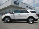 2013 White Platinum Tri-Coat Ford Explorer Limited 4WD #65680783