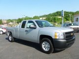 2012 Silver Ice Metallic Chevrolet Silverado 1500 Work Truck Extended Cab 4x4 #65681539