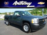 2012 Blue Granite Metallic Chevrolet Silverado 1500 Work Truck Regular Cab 4x4 #65681538