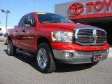 2007 Flame Red Dodge Ram 1500 Big Horn Edition Quad Cab 4x4 #65680668