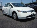 2007 Taffeta White Honda Civic Hybrid Sedan #65680647