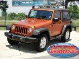 2011 Mango Tango Pearl Jeep Wrangler Sport S 4x4 #65681300