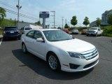 2010 White Platinum Tri-coat Metallic Ford Fusion SEL #65680883