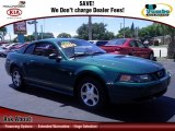 2000 Amazon Green Metallic Ford Mustang V6 Coupe #65753251
