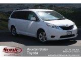 2012 Super White Toyota Sienna LE #65752978