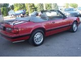 1987 Ford Mustang Medium Cabernet Red