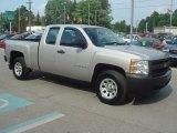 2008 Silver Birch Metallic Chevrolet Silverado 1500 Work Truck Extended Cab 4x4 #65780504