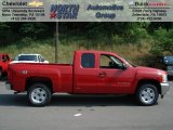 2012 Victory Red Chevrolet Silverado 1500 LT Extended Cab 4x4 #65780495