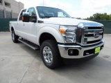 2012 White Platinum Metallic Tri-Coat Ford F250 Super Duty Lariat Crew Cab 4x4 #65802131