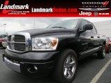 2007 Brilliant Black Crystal Pearl Dodge Ram 1500 Laramie Quad Cab #65802084