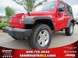 2012 Flame Red Jeep Wrangler Sport S 4x4 #65802054