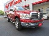 2007 Inferno Red Crystal Pearl Dodge Ram 1500 SLT Quad Cab #65853129